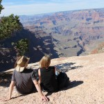 Rich and Lou look out over the Grand Canyon